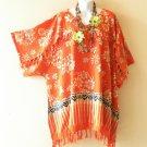 KB415 Floral Kimono Plus Size Batik Caftan Kaftan Tunic Blouse Top - up to 5X