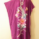 Purple Floral Plus Size Caftan Kaftan Tunic Hippy Maxi Maternity Dress - up to 4X