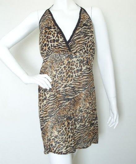 Block Printed Exotic Peasant Print Sexy Long Top Blouse / Dress - M & L