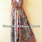 2D100 - Purple Versatile Silk Multi Wear Scarf Long Maxi Dress, Skirt, Maternity