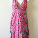Pink Batik Floral Printed Embroidered Sequins Long Top / Blouse & Dress - XS