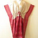 K29 Vintage Silk Kaftan Caftan Batwing Empire Maternity Blouse Dress - M to 2X