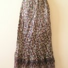 Bohemian Peasant Hippie Gyspy Ethnic Printed Maxi Long Skirt - S & M