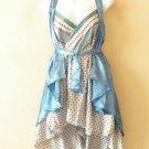 "B91 Reversible Vintage Silk Magic 20"" Mini Wrap Skirt Halter Tube Top + DVD"