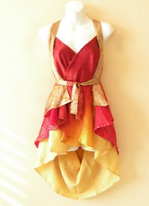 "B83 Reversible Vintage Silk Magic 20"" Mini Wrap Skirt Halter Tube Top + DVD"
