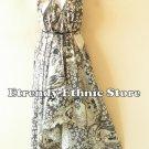 2D102 - White Versatile Silk Multi Wear Scarf Long Maxi Dress, Skirt, Maternity