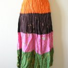 Tie & Dye Boho Hippie Gypsy 4 Tiered Patchwork Skirt