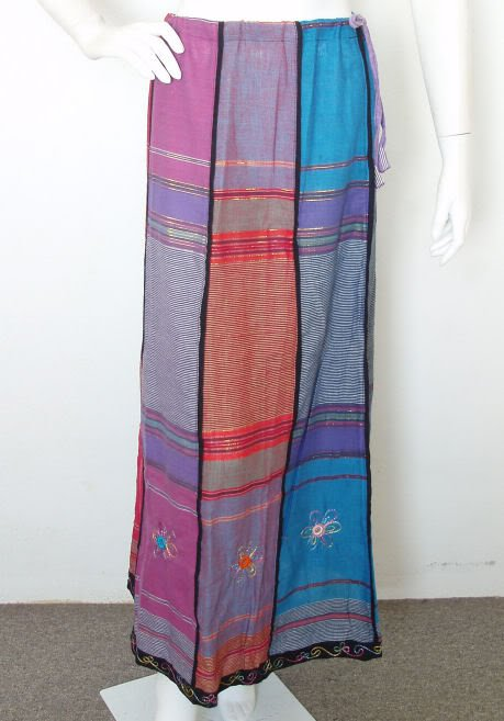 Bohemian Pleasant Embroidered Patchwork Skirt - XS & S
