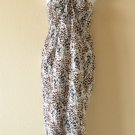 Animal Printed Beachwear Wrap Around Sarong Pareo Dress or Coverup Skirt