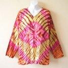 BoHo Hippie Gypsy Tunic Kaftan Tie dye Kurta Kurti Blouse Top - L & XL