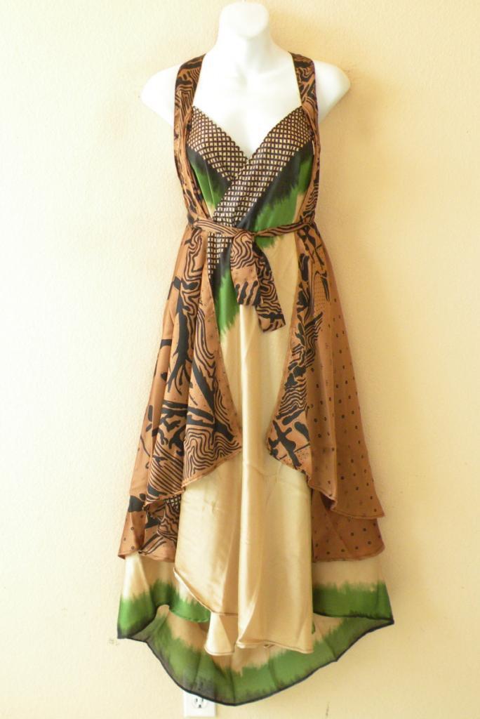 "L897 Vintage Silk Magic 34"" Long Wrap Skirt Halter Tube Maxi Dress + Bonus DVD"