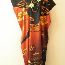 Floral Plus Size Caftan Kaftan Tunic Hippy Abaya Maxi Dress - M, L, XL & 1X