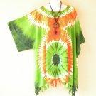 Tie Dye Kimono Floral Plus Size Caftan Dolman Tunic Blouse - 1X, 2X, 3X & 4X