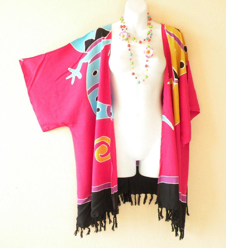 Pink Gecko Plus Size Cardigan Duster Jacket Kimono Cover up - 2X, 3X, 4X & 5X