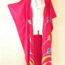 CD225 Plus Size Maxi Cardigan Kaftan Duster Jacket Wrap Dress -2X, 3X, 4X & 5X