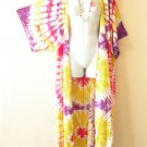 CD39 Tie Dye Plus Size Cardigan Duster Kimono Maxi Cover up - 2X, 3X, 4X & 5X