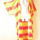 CD37 Tie Dye Plus Size Cardigan Duster Kimono Womens Cover up - 2X, 3X, 4X & 5X