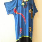KD121 Gecko Kimono Plus Size Caftan Kaftan Tunic Hippy Dress - 2X, 3X, 4X & 5X
