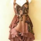"B98 Reversible Vintage Silk Magic 20"" Mini Wrap Skirt Halter Tube Top + DVD"