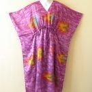 K19 Vintage Shimmery Silk Kaftan Batwing Dolman Empire Dress - M to 2X