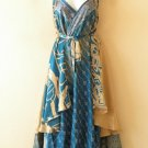 "L916 Vintage Silk Magic 34"" Long Wrap Skirt Halter Tube Maxi Dress + Bonus DVD"