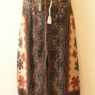 Clearance Gothic Gypsy Patchwork Renaissance Heavily Embroidered Long Skirt - L