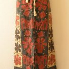 Gothic Hippie Bohemian Renaissance Heavily Embroidered Long Skirt - M & L