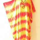 Tie Dye Batik Hippie Kaftan Caftan Batwing Maternity Dolman Maxi Dress 2X to 5X