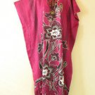 KD30 Pink Batik Women Kaftan Caftan Batwing Tunic Abaya Dolman Dress XL to 3X