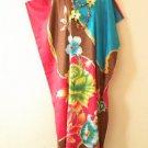 KD81 Floral Women Kaftan Caftan Batwing Tunic Abaya Dolman Maxi Dress L to 2X