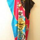 KD114 Batik Women Kaftan Caftan Batwing Tunic Abaya Dolman Maxi Dress L to 1X