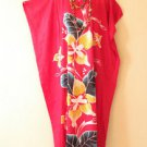 KD38 Red Floral Women Kaftan Caftan Batwing Maternity Dolman Maxi Dress L to 2X