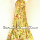 2D116 - Lime Versatile Silk Multi Wear Scarf Women Maxi Dress, Skirt, Maternity