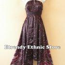 1D112 Versatile Floral Silk Multi Wear Scarf Women Maxi Halter Dress Maternity