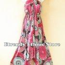 2D111 - Pink Versatile Silk Multi Wear Scarf Women Maxi Dress Skirt Maternity