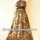 1D109 - Versatile Swirl Silk Multi Wear Scarf Women Maxi Halter Dress Maternity