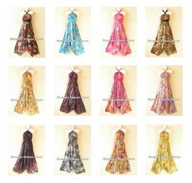 Wholesale 10pcs Versatile Halter Silk Multi Wear Women Scarf Maxi Long Dresses