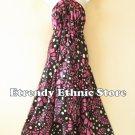 2D112 - Pink Versatile Silk Multi Wear Scarf Women Maxi Dress, Skirt, Maternity