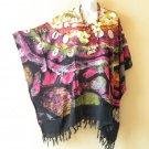 KB3 Batik Plus Women Batik Kaftan Rayon Poncho Dolman Tunic Blouse - 1X to 4X