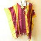 KB25 Tie Dye Women Batik Kaftan Poncho Dolman Tunic Blouse Top - L, XL, 1X, 2X