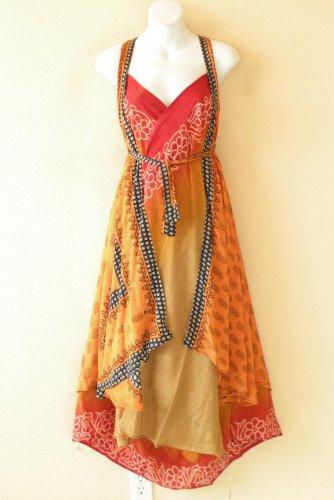 "E526 Vintage Women Boho Silk Magic 36"" Sarong Pareo Wrap Skirt Tube Dress + DVD"