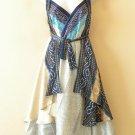 """M485 Reversible Vintage Silk Women 30"""" Length Wrap Skirt Halter Tube Dress + DVD"""