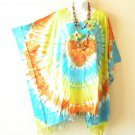 KB17 Tie Dye Batik Plus Size Women Batik Kaftan Poncho Dolman Tunic Top 1X to 4X