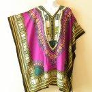 Purple Kaftan Digital Printed Viscose Batwing Women Empire Tunic Top - 2X / 5X