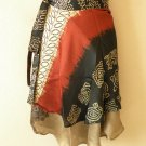 "B90 Reversible Vintage Silk Magic 20"" Mini Wrap Skirt Halter Tube Top + DVD"