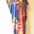 K90 Blue Batik Women Kaftan Caftan Hippy Tunic Abaya Boho Gown Maxi Dress S to L
