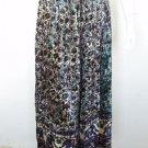 Women Bohemian Bellydance Boho Hippie Gypsy Peasant Print Velvet Skirt w/Mirrors