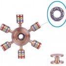 20pcs USA Stock Ship Wheel Metal Copper Brass Torqbar Fidget Spinner