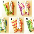 Tie Dye Cardigan Duster Kaftan Batwing Plus Hippy Jacket Cover up Top - up to 5X