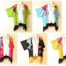 Gecko Kimono Cardigan Duster Kaftan Plus Hippie Jacket Cover Up Top - up to 5X